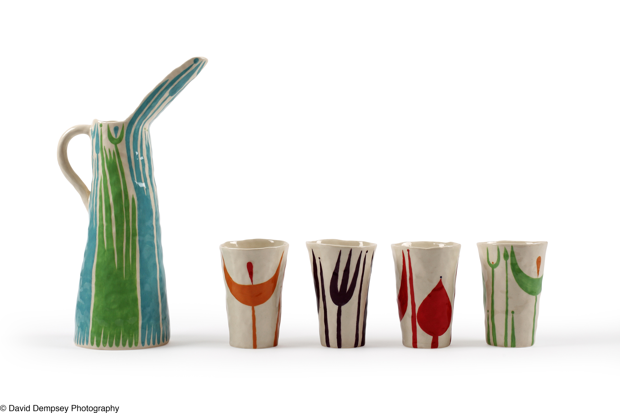 Drinking vessels & jug by Andrew Ludick