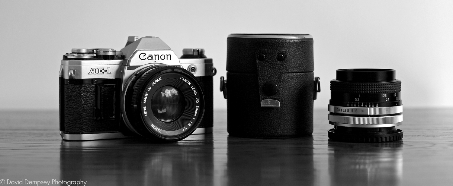 One of my first slr cameras! While I love working in digital photography there is something really special about those old film cameras.