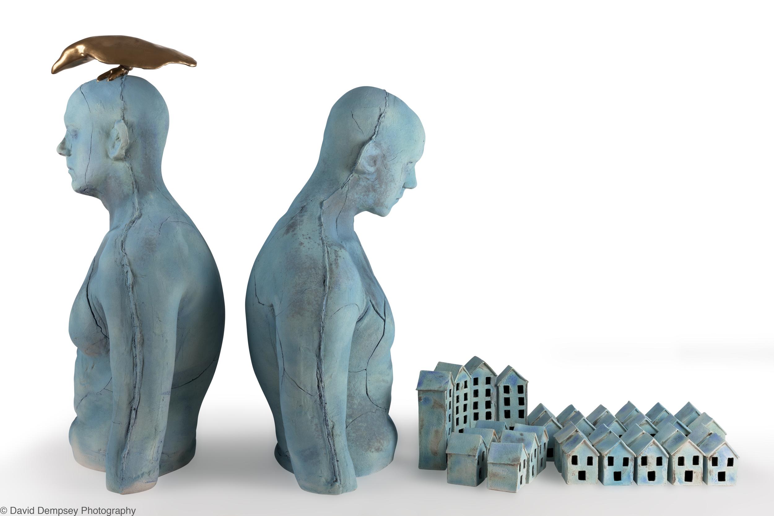 Torsos & houses by Eleanor Swan