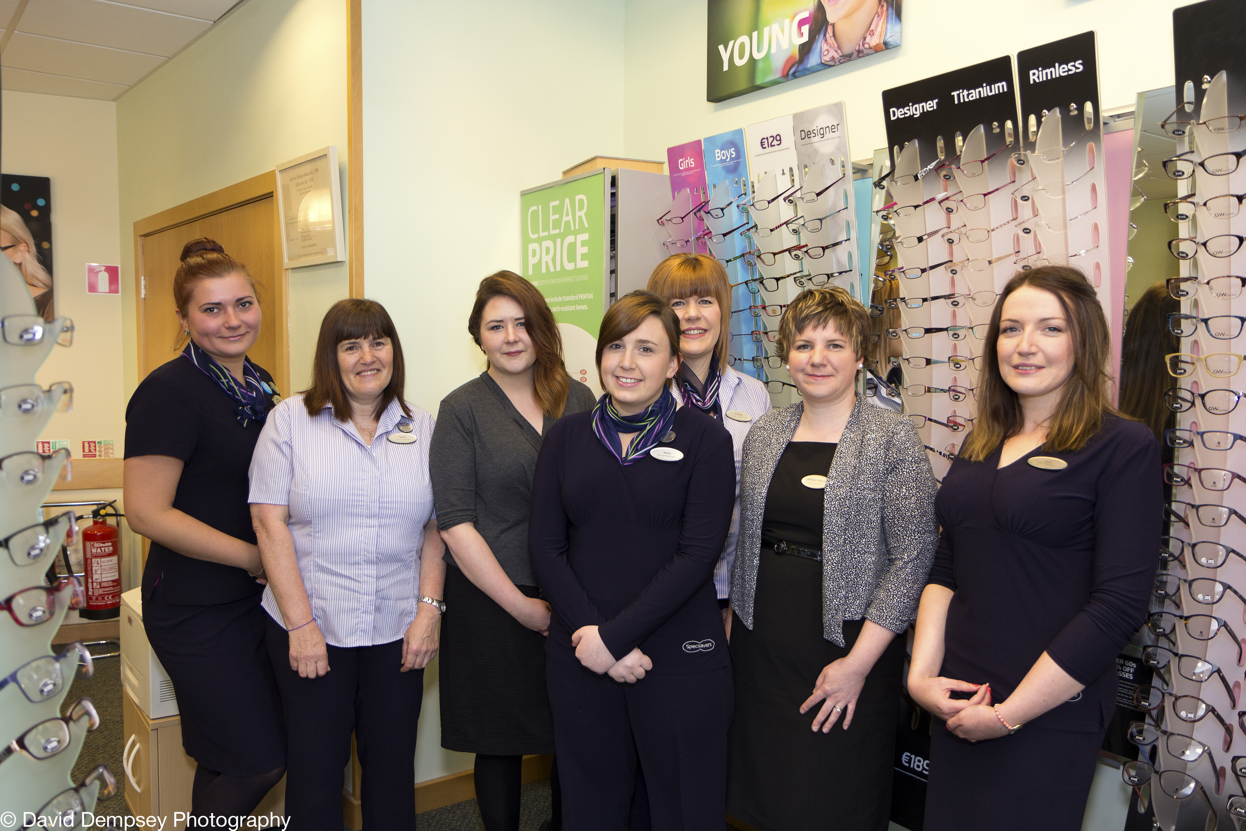 Staff at Specsavers