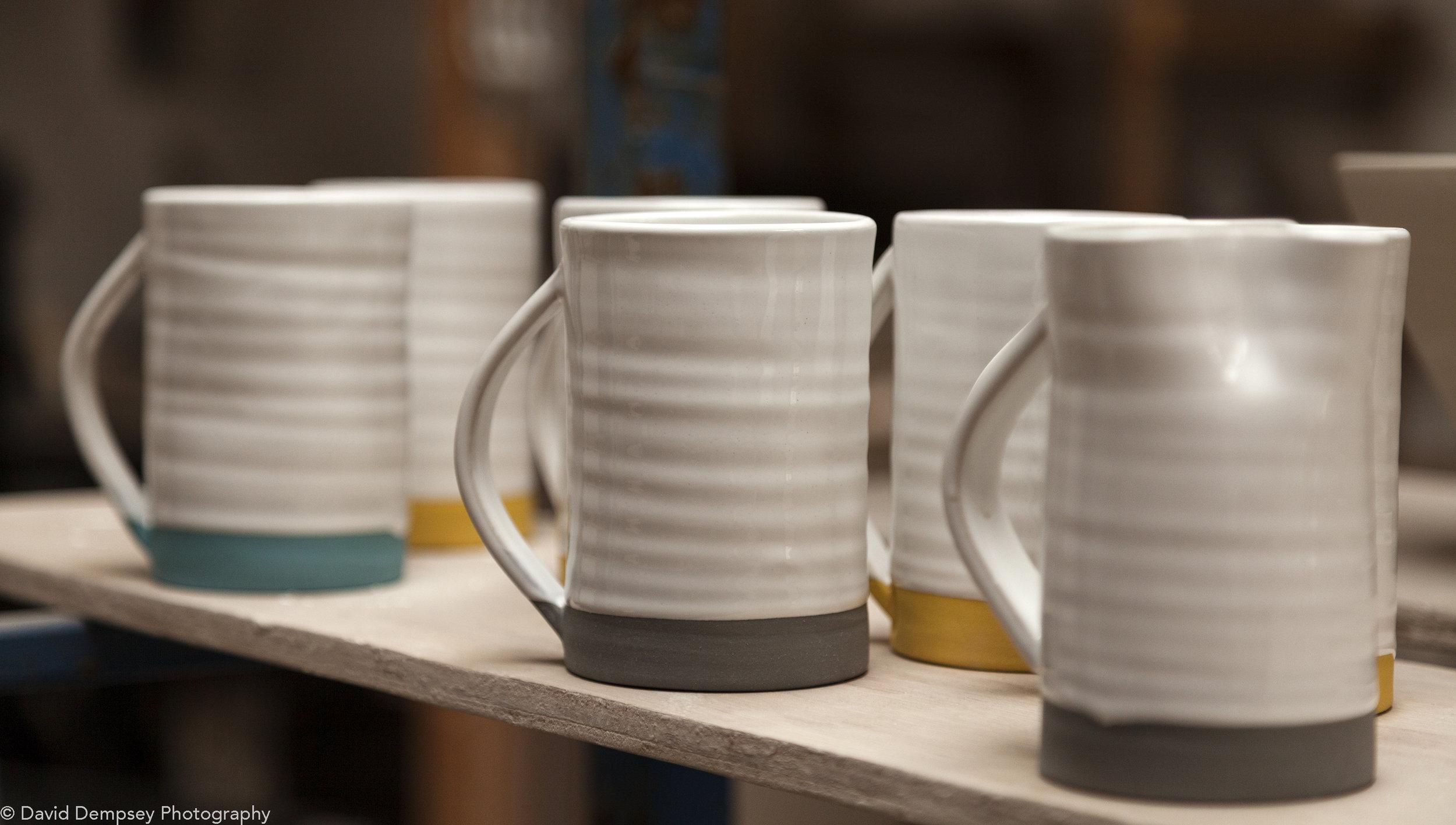 Diem Pottery - Mugs in workshop