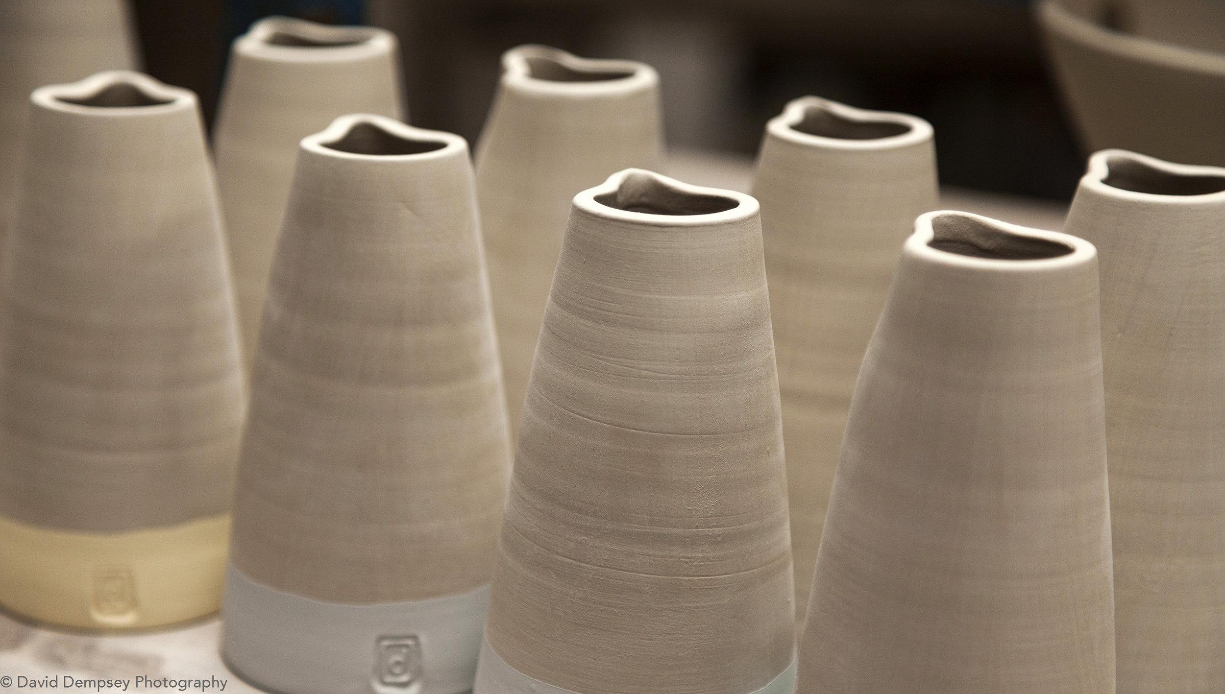 Diem pottery - Jugs in workshop