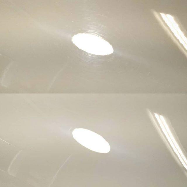 Even white paint can use a solid correction. 💎💎💎 #detail #detailing #detailingworld #syracuseautodetailing #syracuseautospa #syracuse #cnydetailing #cny #nyautodetailing #rupesbigfoot #paintcorrection #detailersofinstagram #blackpaintmatters #gyeon #gyeonquartz