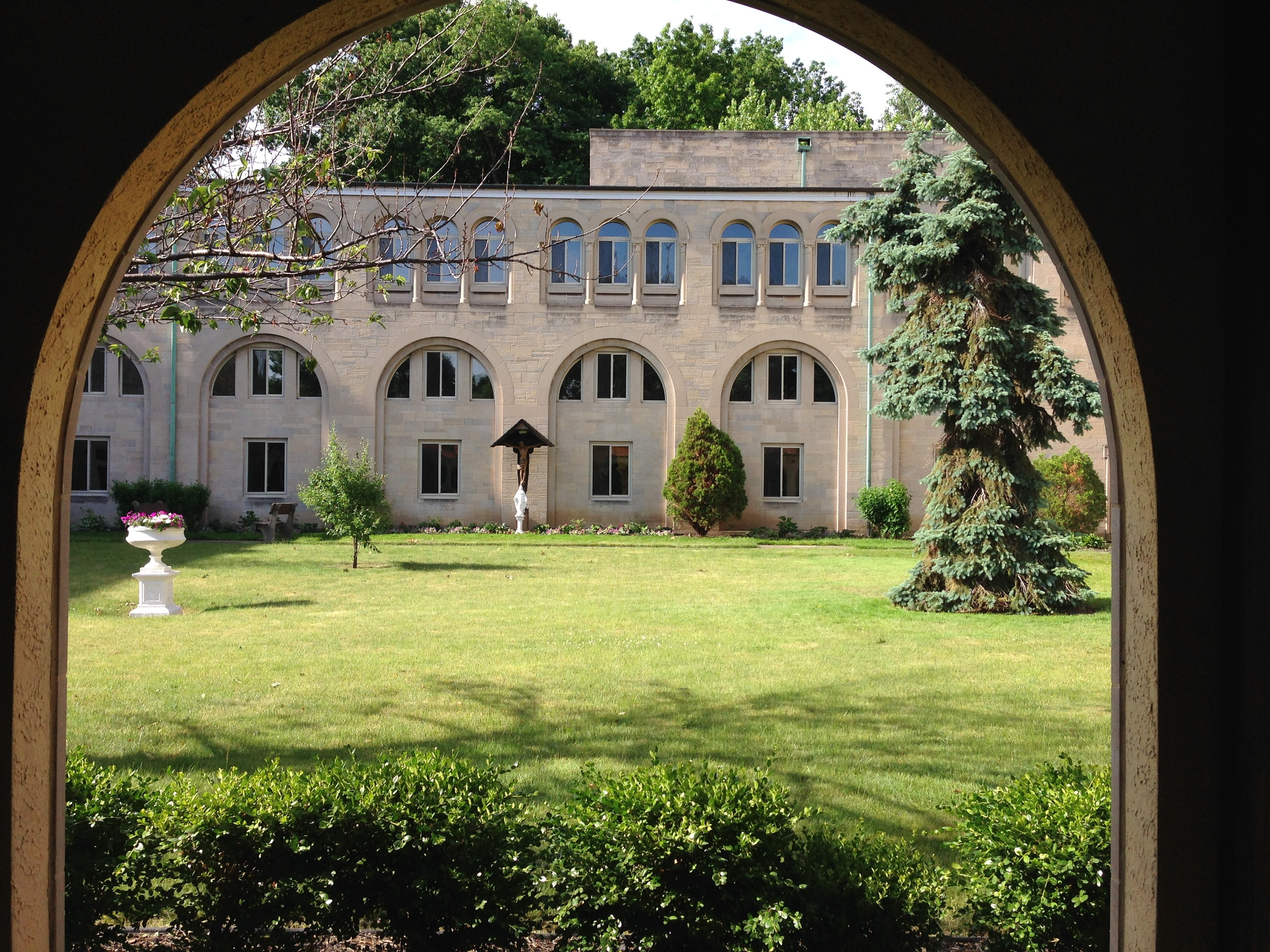 Courtyard of St. Andrew Abbey, Cleveland, Ohio