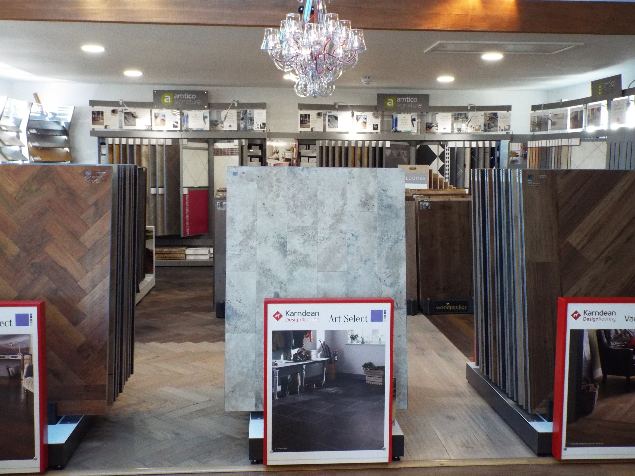 Some of the Karndean display boards in our showroom
