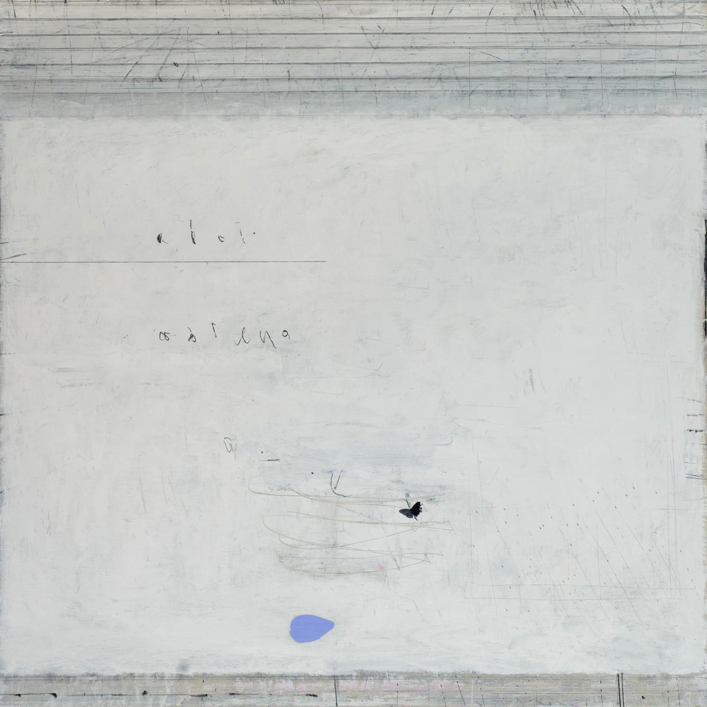 airborn oil & graphite on canvas  100 x 100 cm