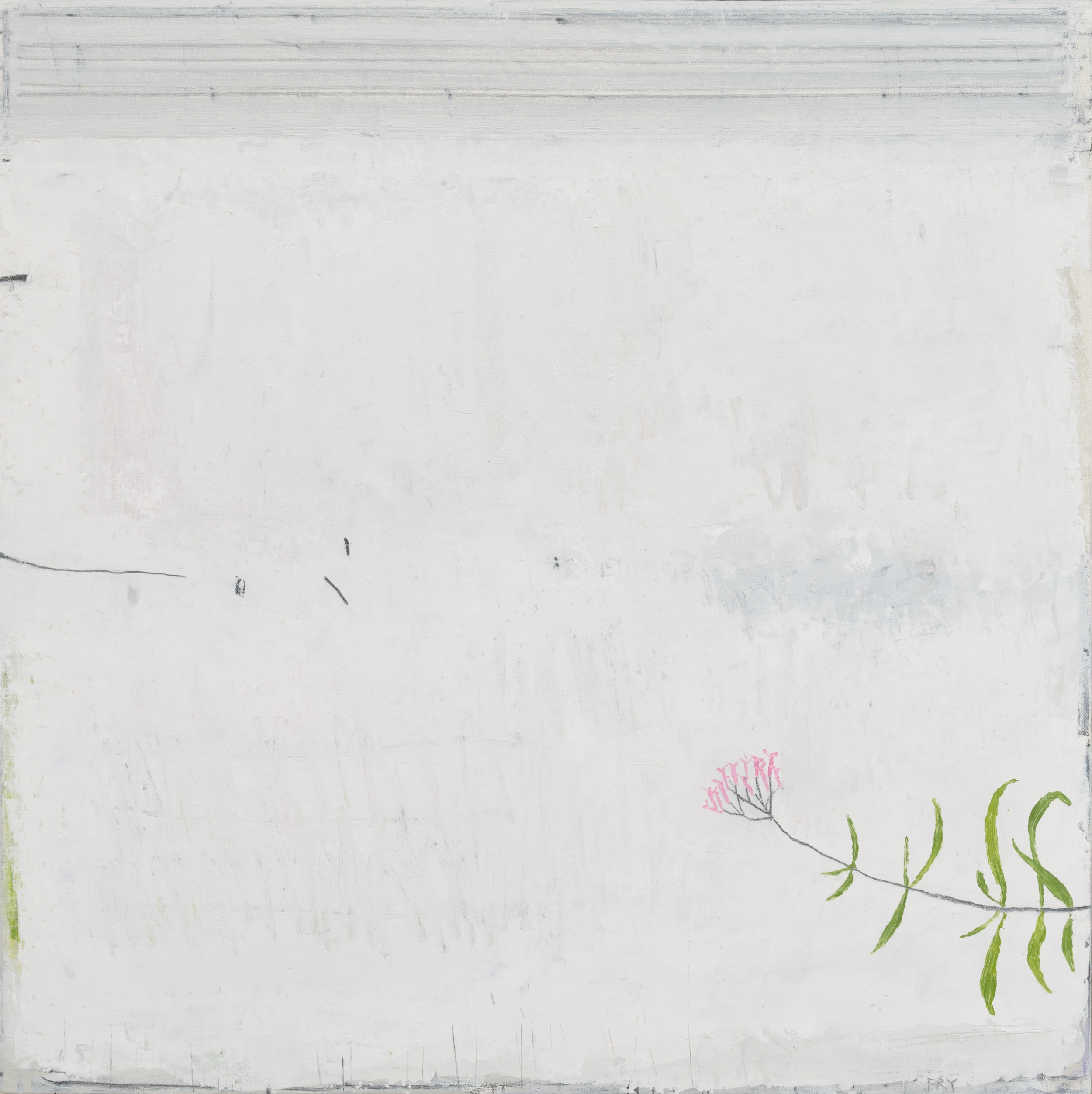 daylight.  oil & graphite on canvas  60 x 60 cm
