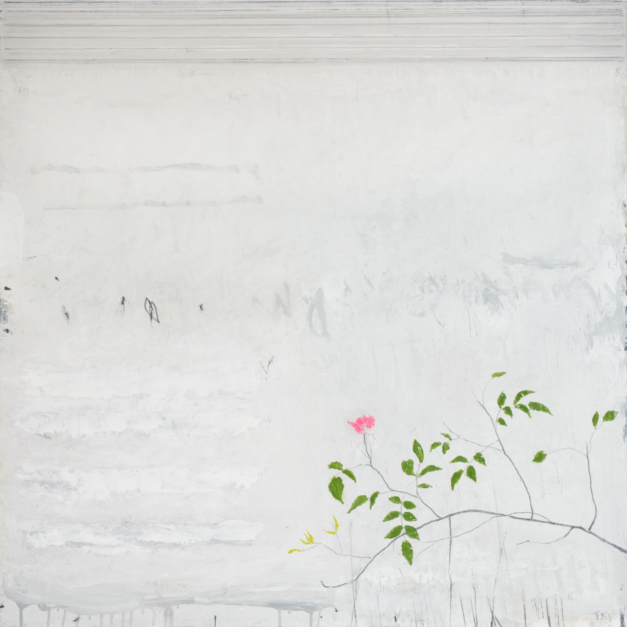 procession. oil & graphite on canvas  100 x 100 cm