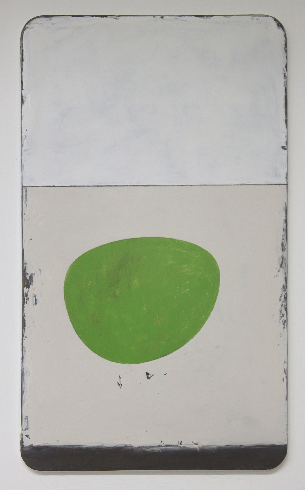 a little song - green bowl. oil & graphite on wood  30 x 45 cm