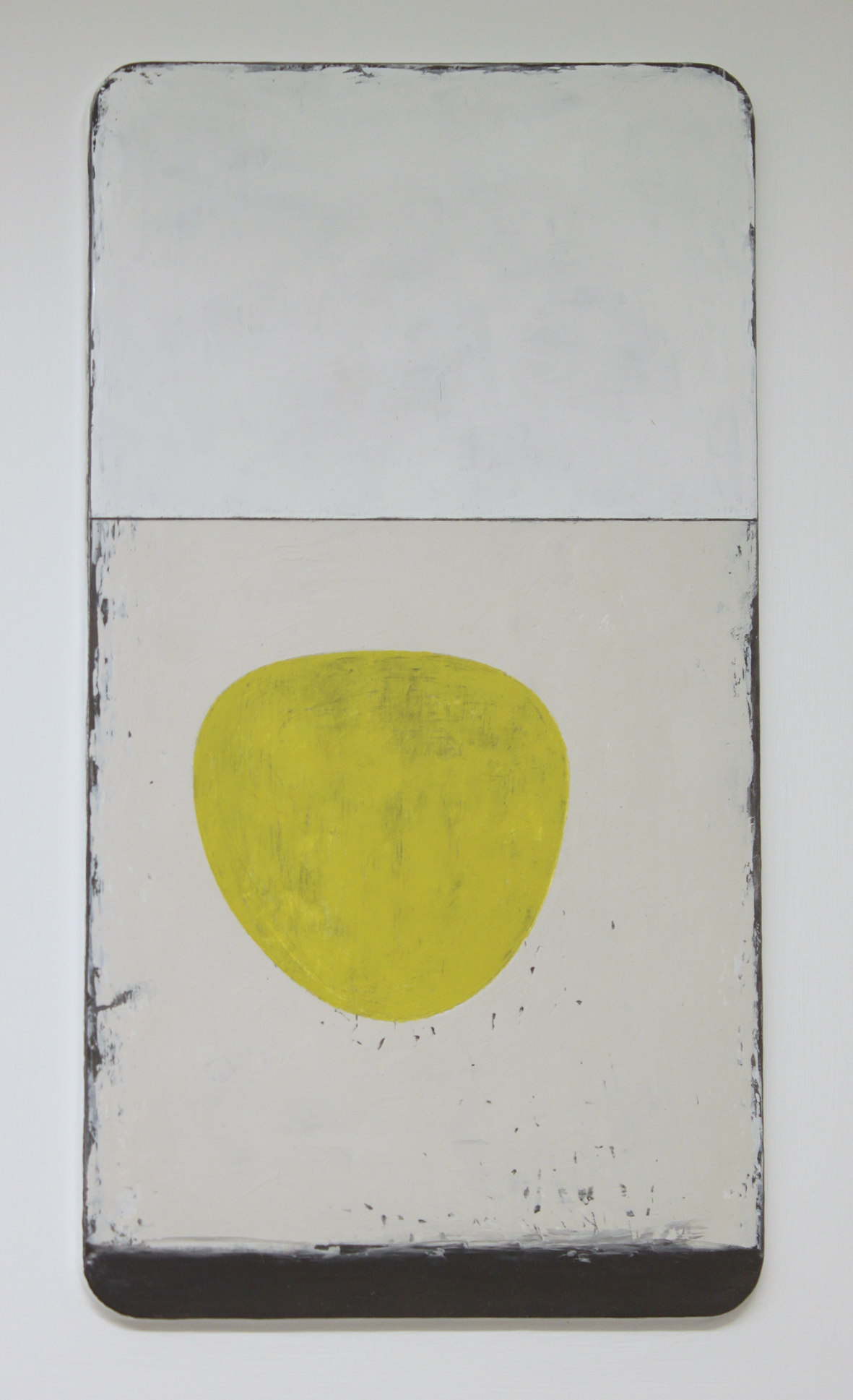 a little song - yellow bowl. oil & graphite on wood  30 x 45 cm