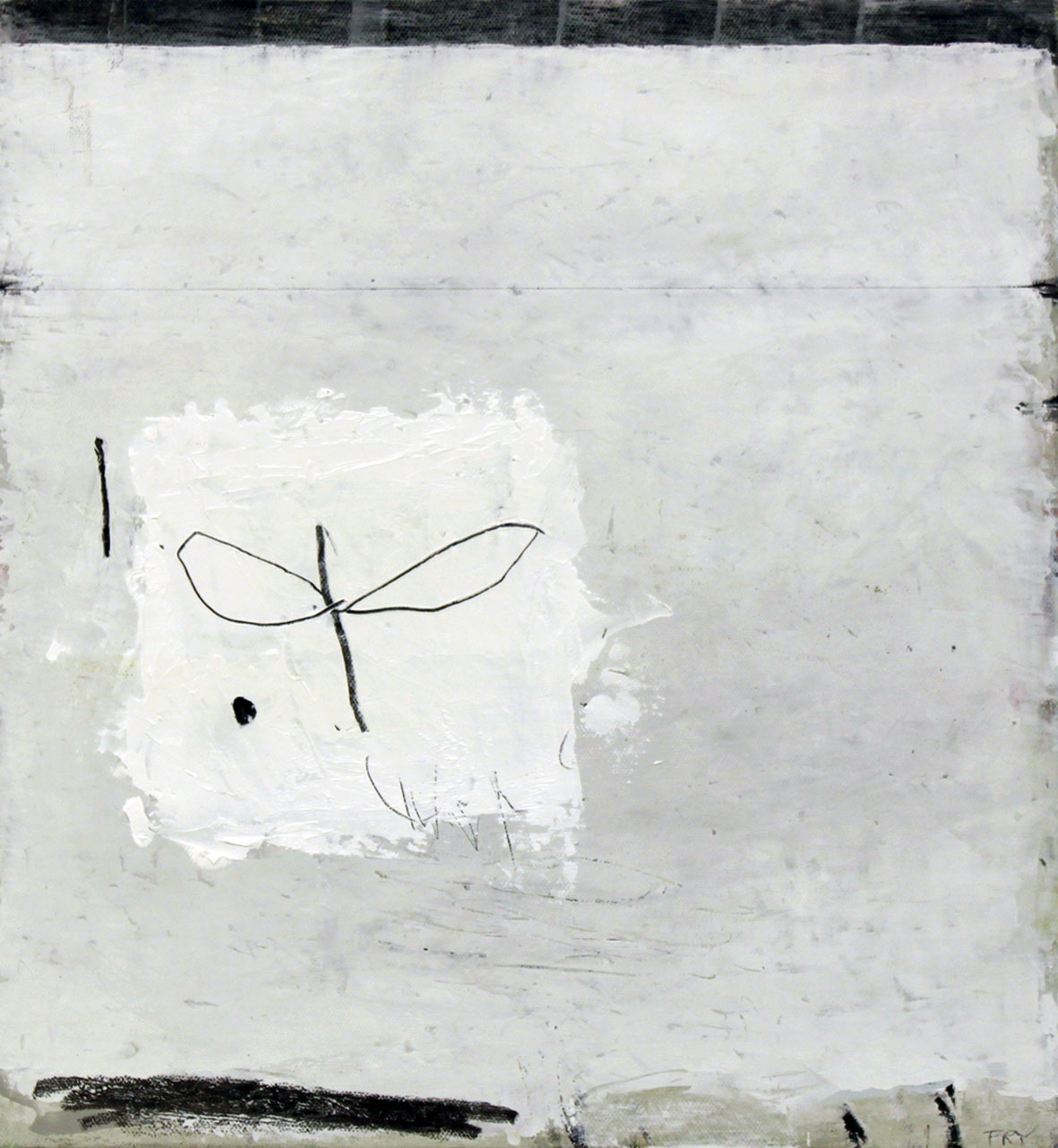 angel. oil & graphite on canvas  34 x 42 cm