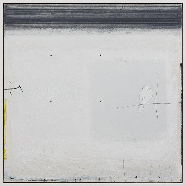 dovecote. oil & graphite on canvas  60 x 60 cm