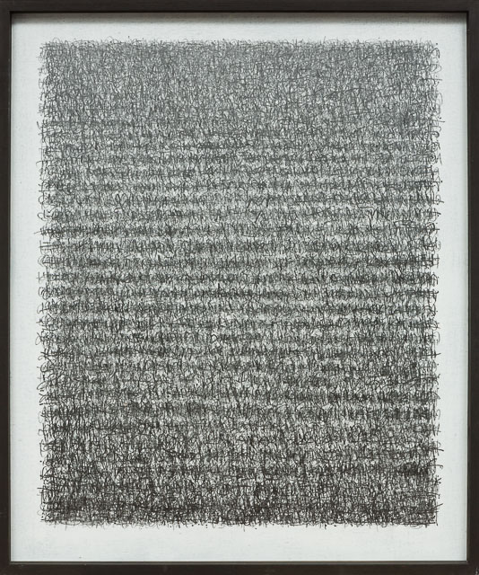 A Poem - The journey & A Prayer - longhand 2. graphite on canvas  104 x 124 cm