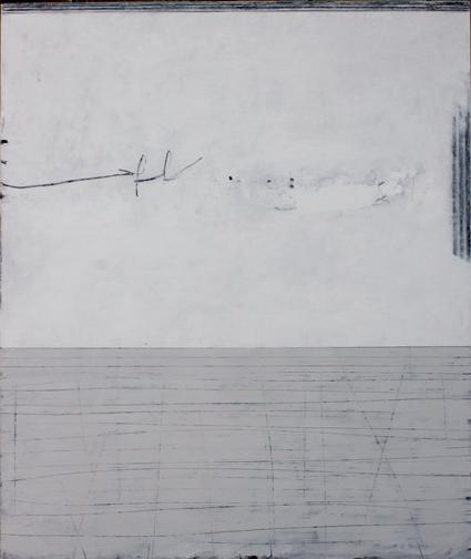 untitled. oil & graphite on canvas  60 x 70 cm