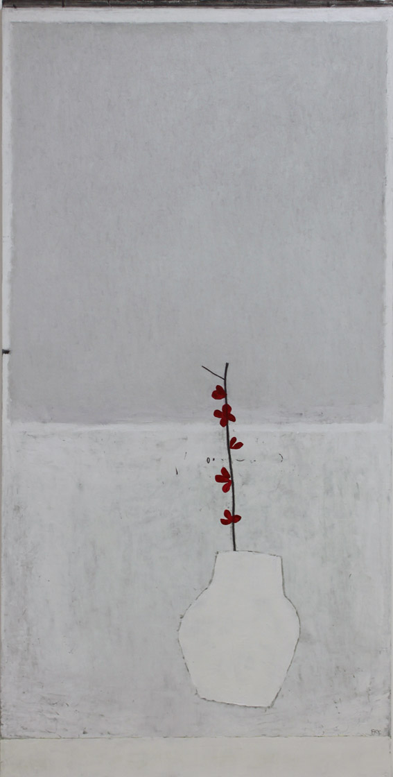 distilled life. oil & graphite on canvas  62 x 122 cm