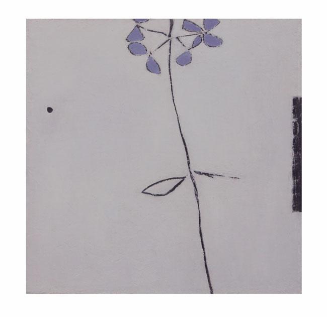 Daylight | Hydrangea | blue hue 20x20cm oil & graphite on wood