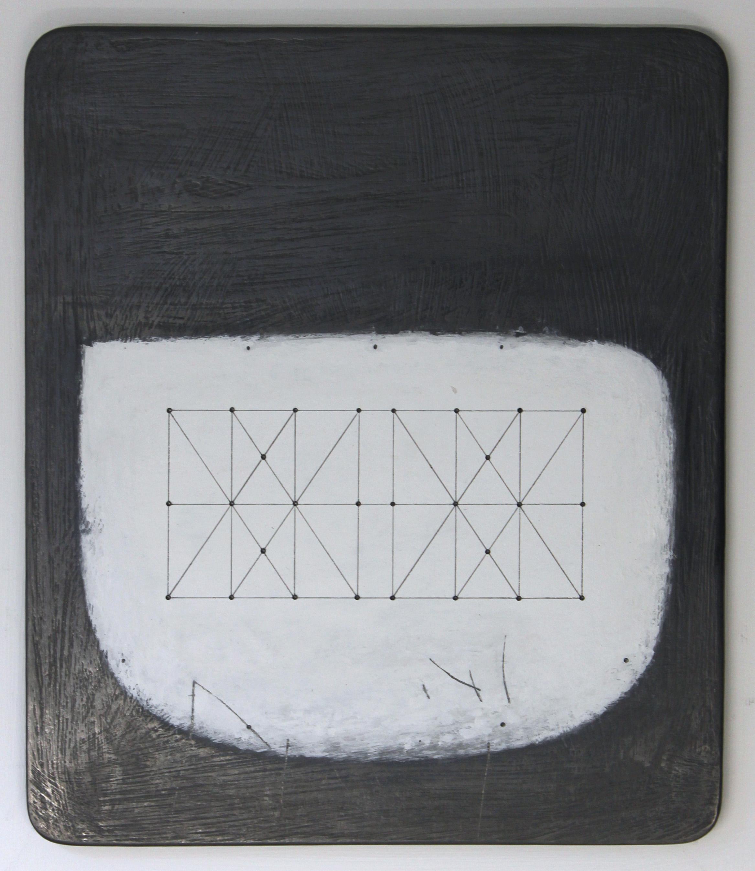 Untitled Space - Box Kite - 28.1 26x21cm graphite & gouache on wood 40x35cm framed