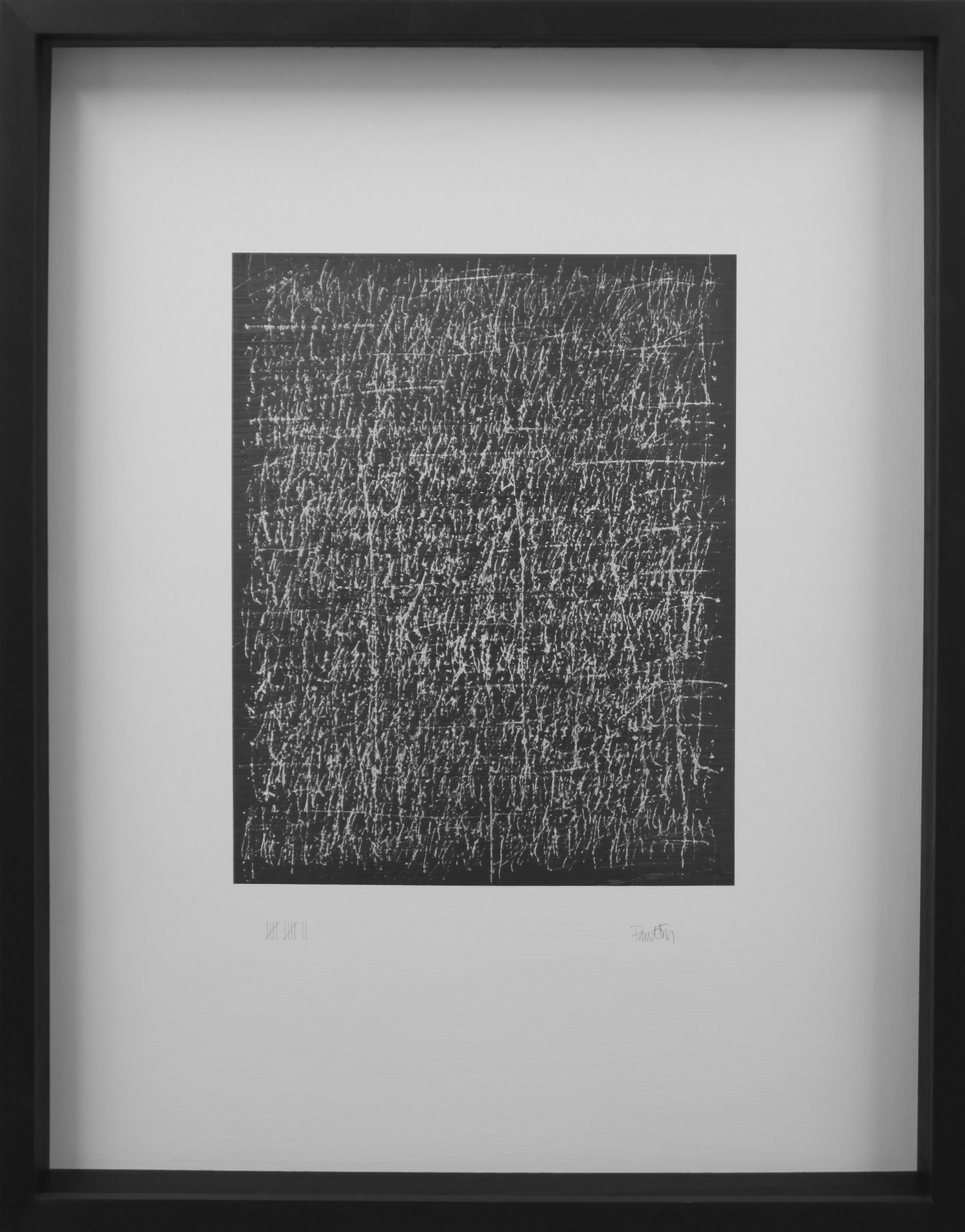 12 - the edge of silence 60.5 x 7 x 77cm graphite on canvas/wood