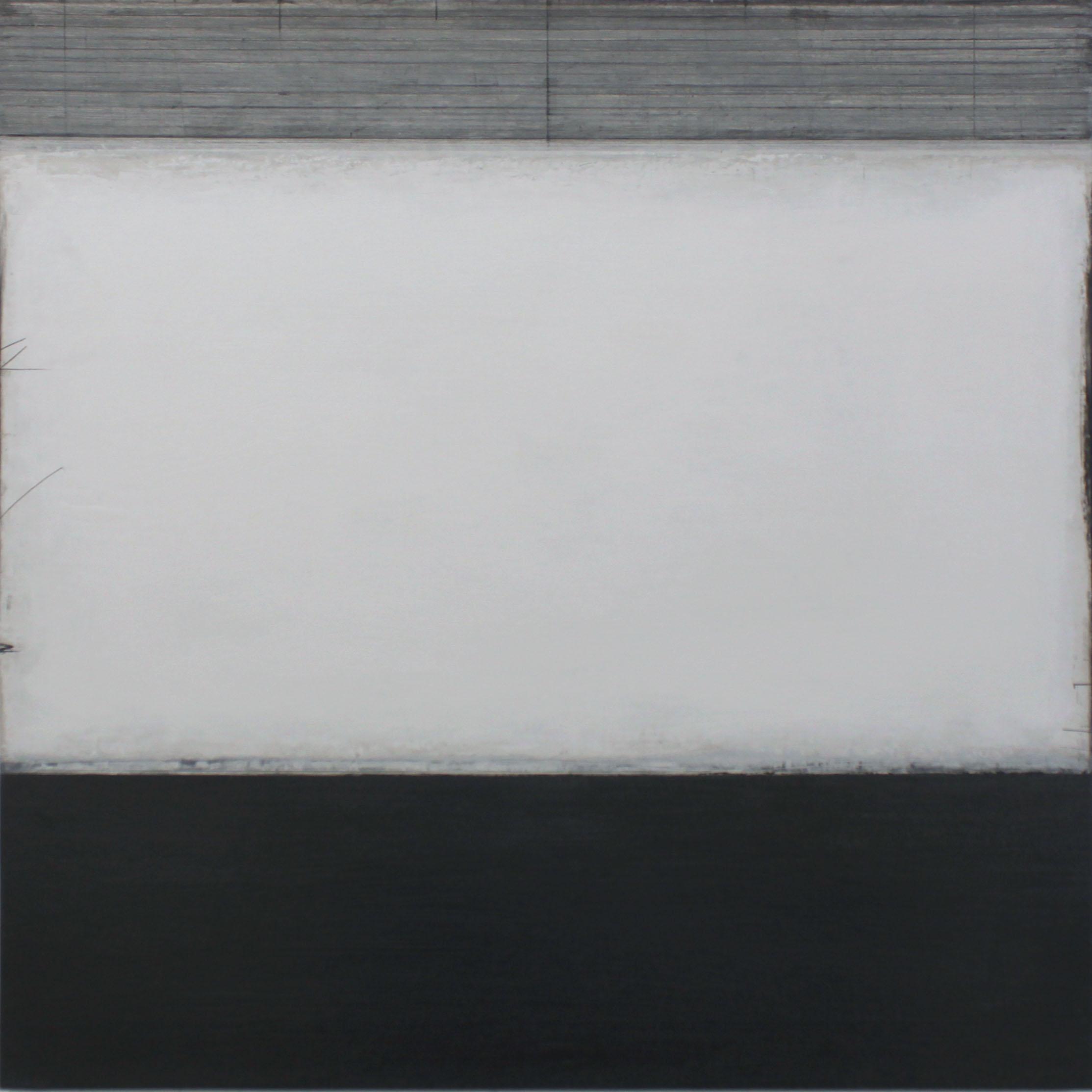 the sea | distilled -  oil & graphite on canvas  100 x 100 cm