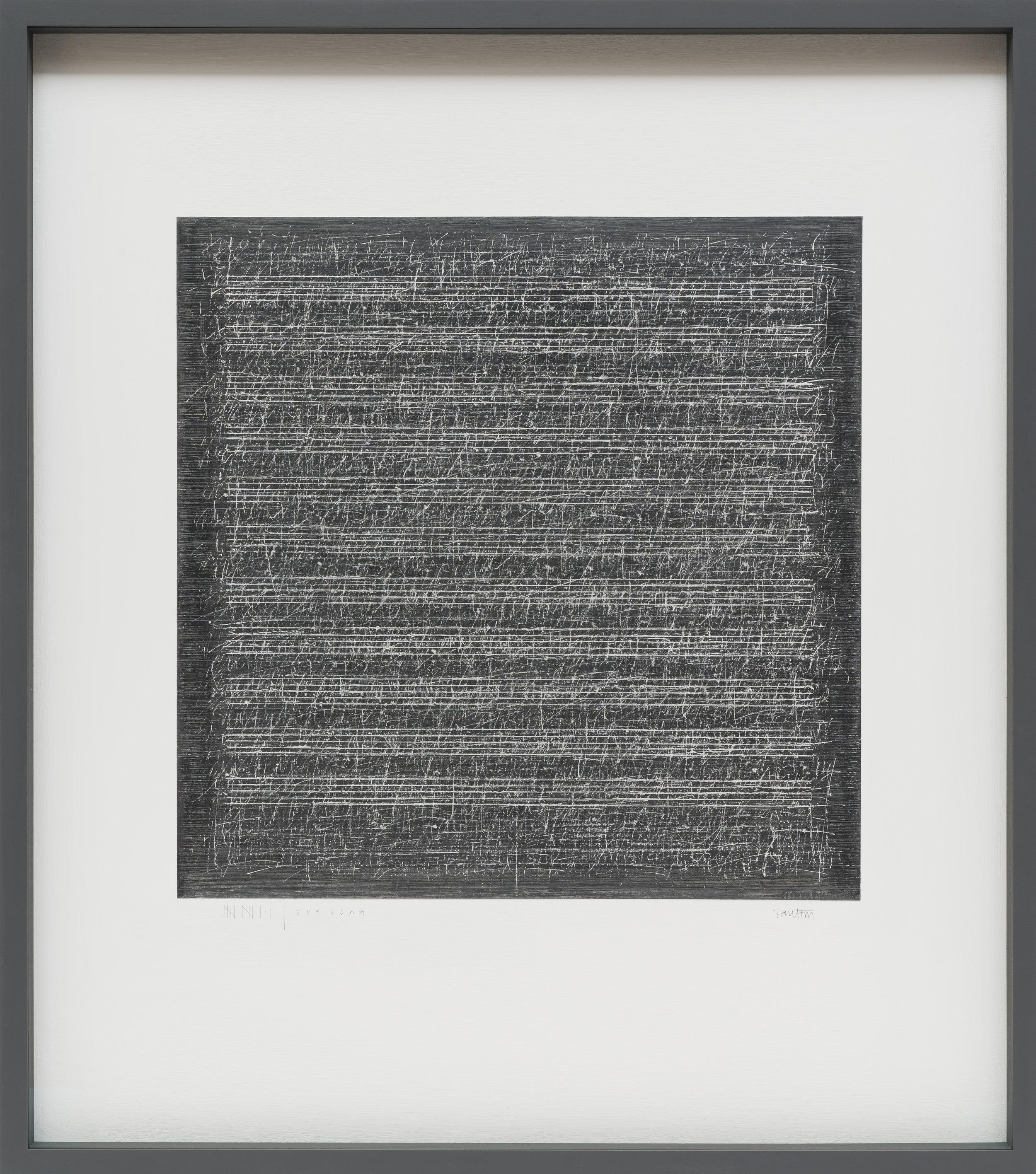 Sea Song | 11.1   82x92cm   gouache & graphite on canvas