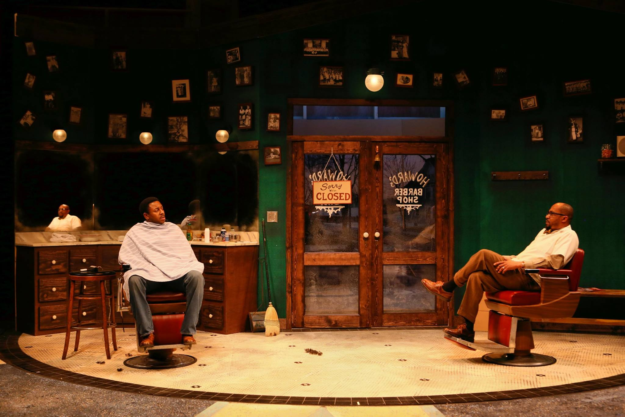From left: Darrick Mosley and Kevin D. West in THE HIGHWAYMEN, directed by Jamil Jude (Photo by Scott Pakudaitis).