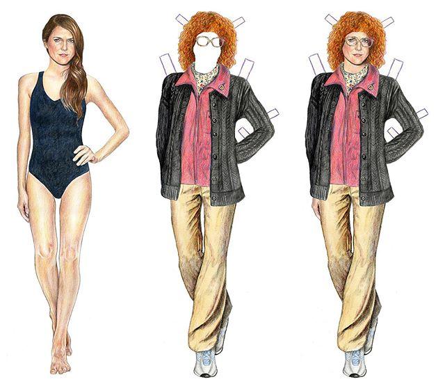 5/5 The Americans Elizabeth Jennings paper doll spy costumes... nurse Stephanie! That's a wrap! #theamericans #kerirussell #elizabethjennings #paperdolls #drawing #illustration #coloredpencil #art #popculture #celebrity @theamericansfx