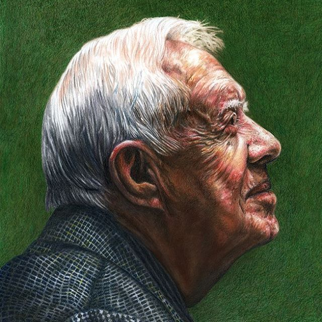 Happy 95th birthday to Jimmy Carter, and to his incredible life and legacy of generosity and kindness. #jimmycarter @thecartercenter #art #pastel #coloredpencil #illustration #portraits