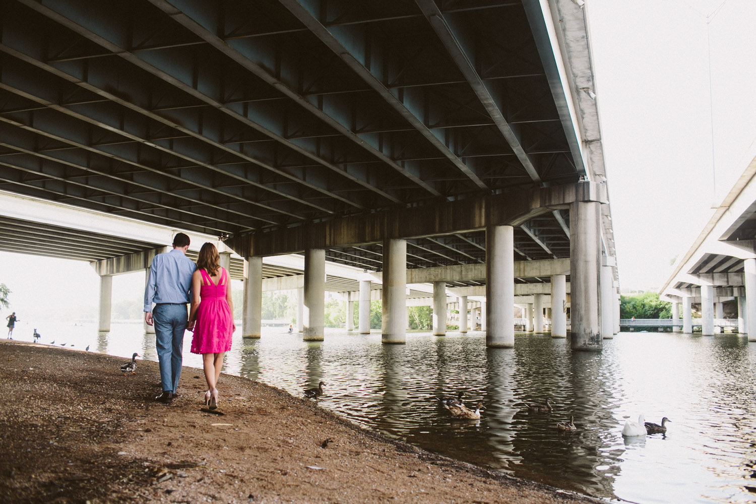 town lake engagement session