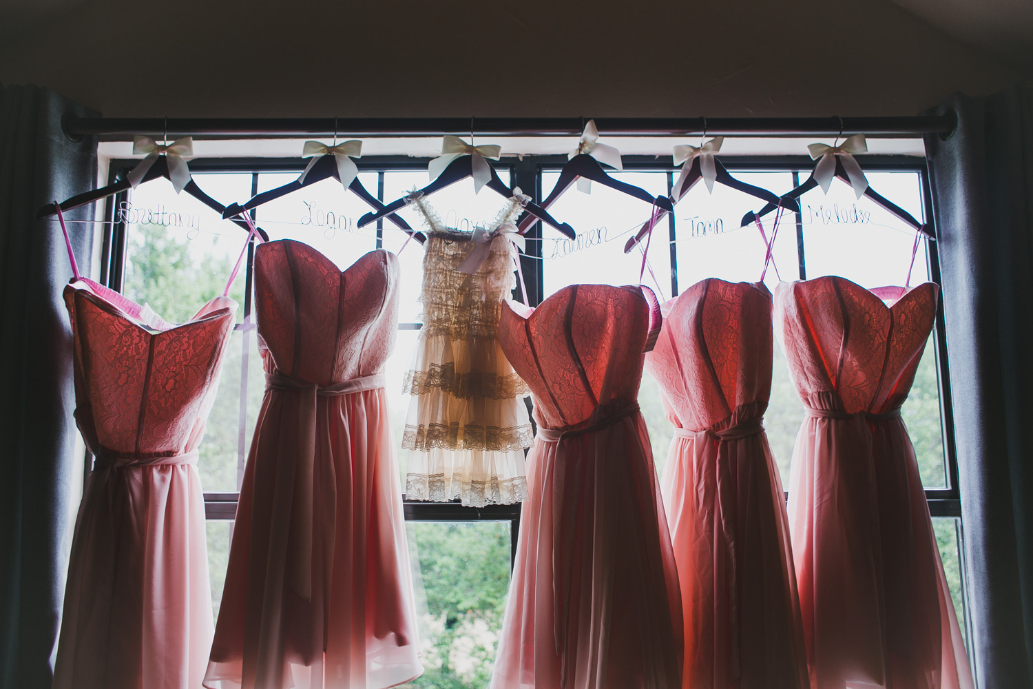 Bridesmaids dresses at Vista West Ranch | Lisa Woods Photography