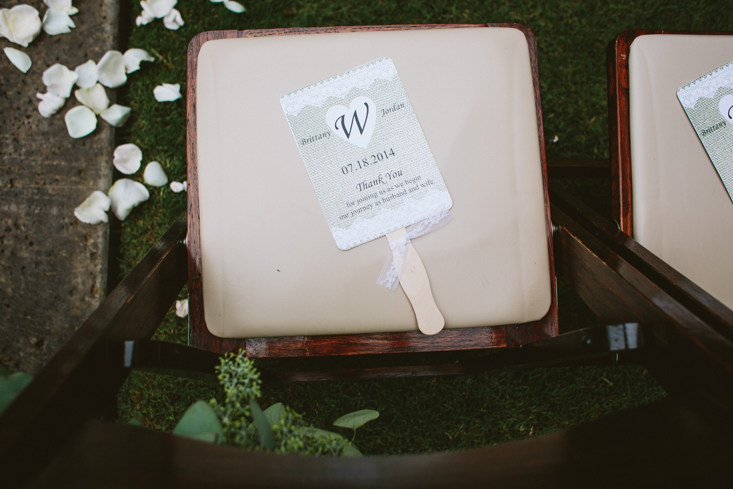 Wedding Program and Fan at Vista West Ranch Outdoor Wedding | Lisa Woods Photography