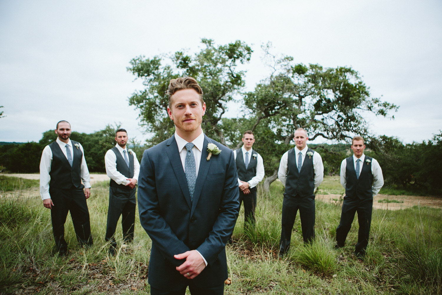 Groomsmen and Groom at Vista West Ranch | Lisa Woods Photography