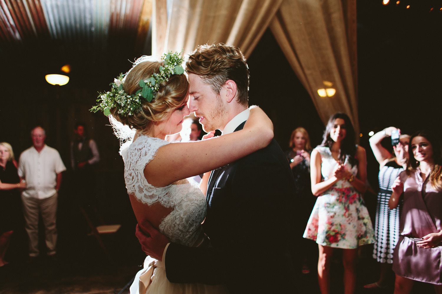 First Dance with Bride and Groom at Vista West Ranch | Lisa Woods Photography
