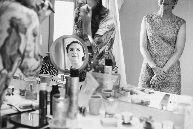 Bride in the Mirror   Austin Wedding Photographer   Lisa Woods Photography