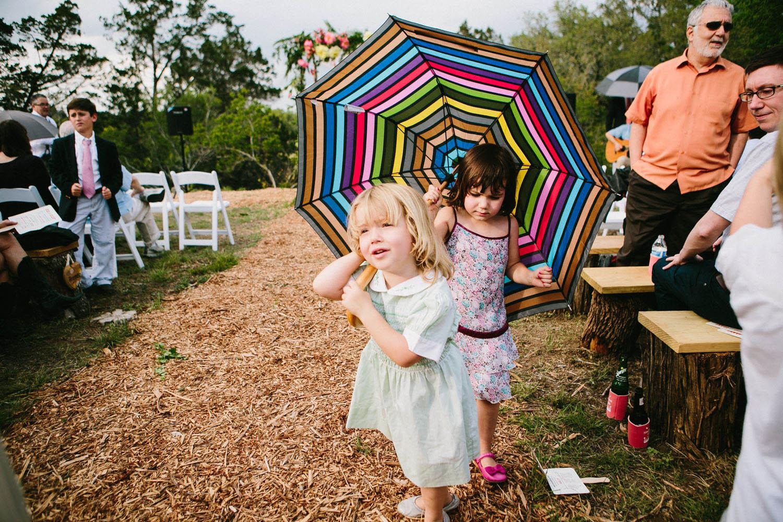 Little Girls & Umbrella   Home Ranch Wedding   Lisa Woods Photography
