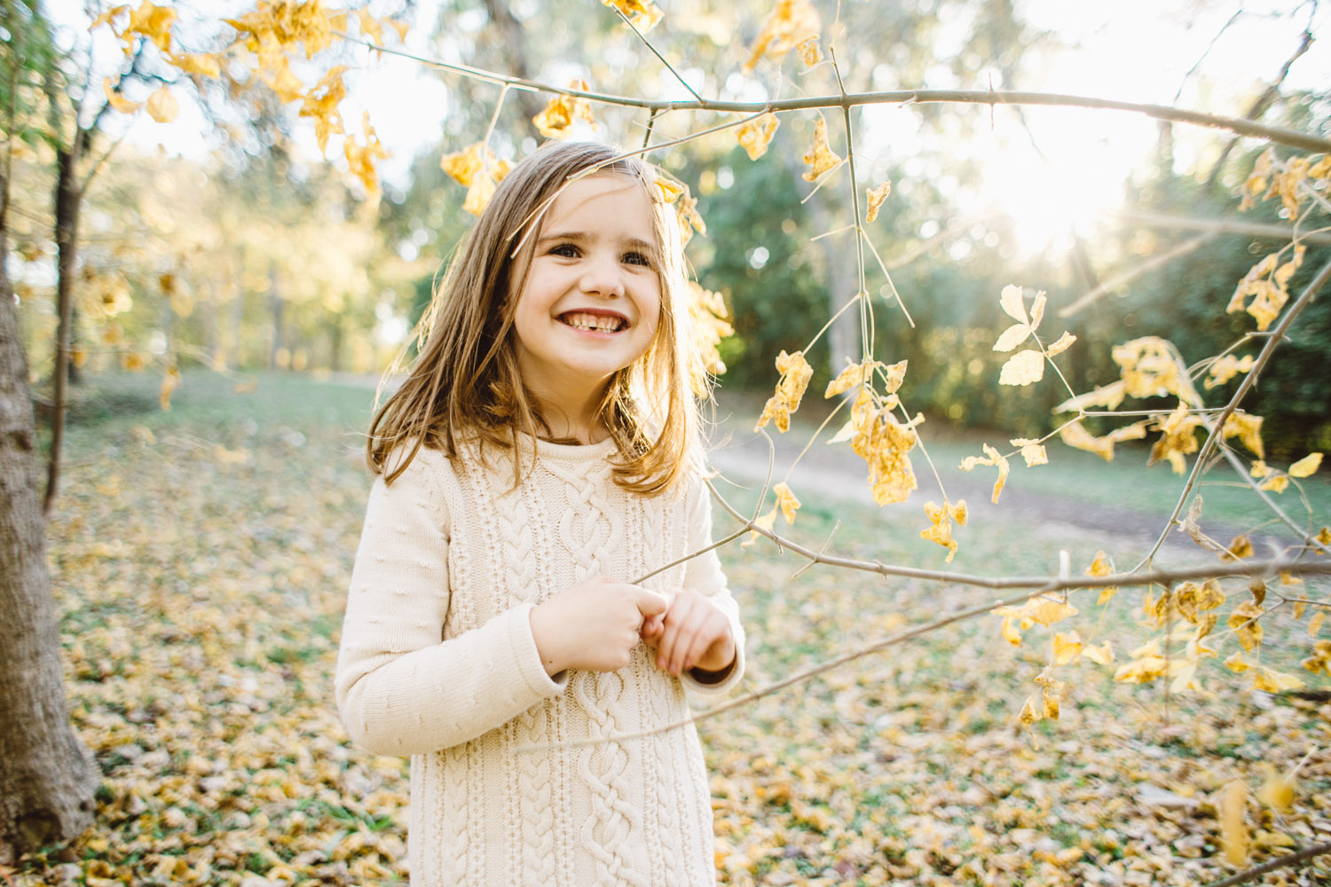 Little Girl | Houston Fall Holiday Family Session | Lisa Woods Photography