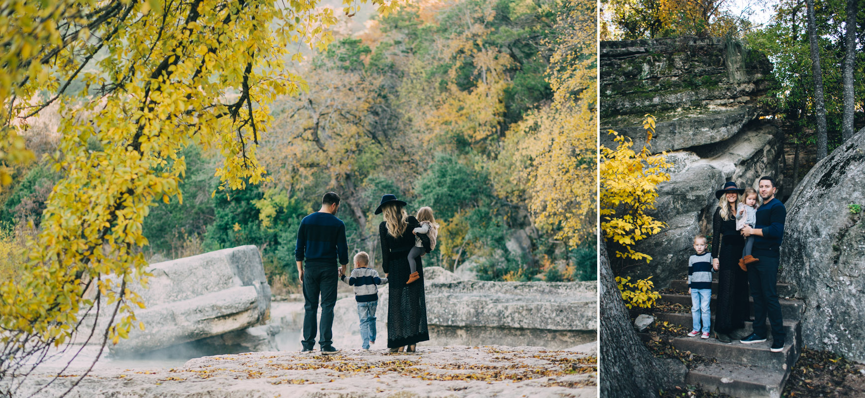 Fall Family Portraits | Bull Creek Austin Texas | Lisa Woods Photography