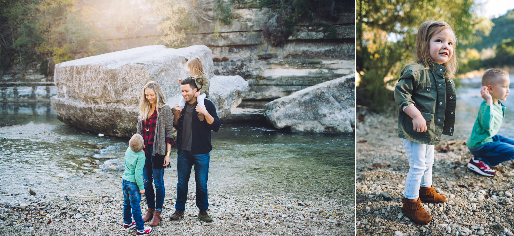 Family Portraits by River | Austin Texas | Lisa Woods Photography