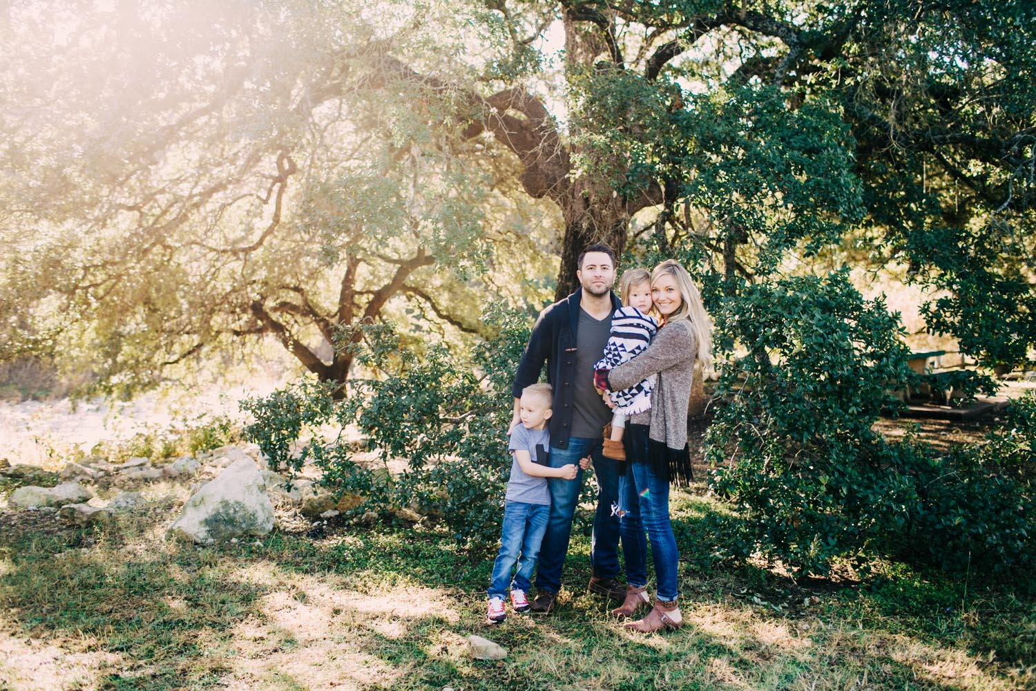 Family Fall Portraits | Bull Creek | Austin Texas | Lisa Woods Photography