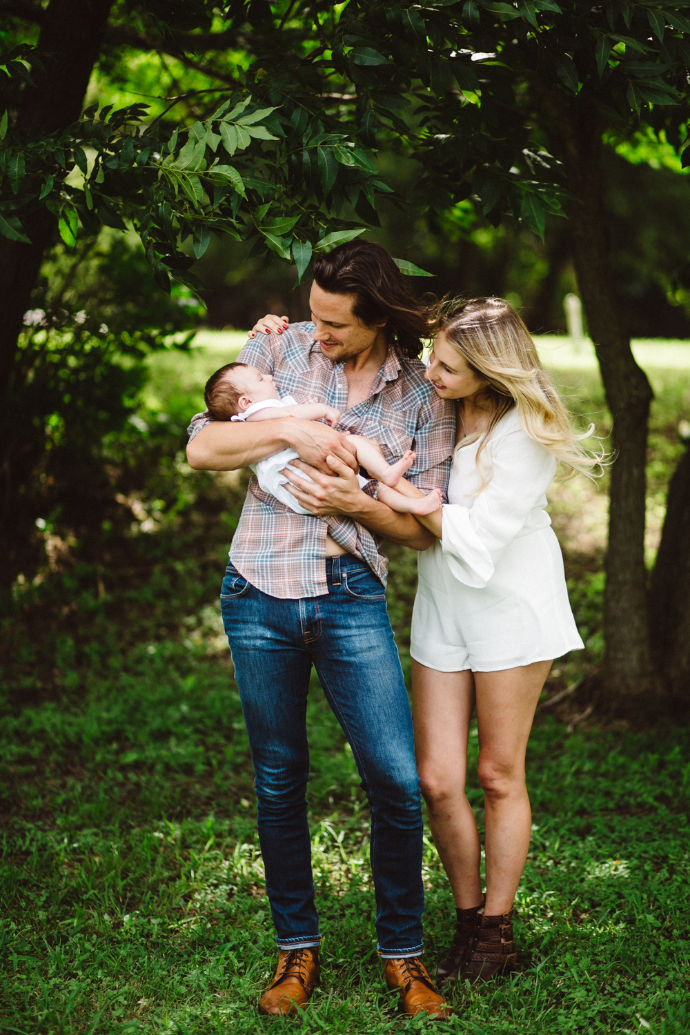 beautiful family with baby