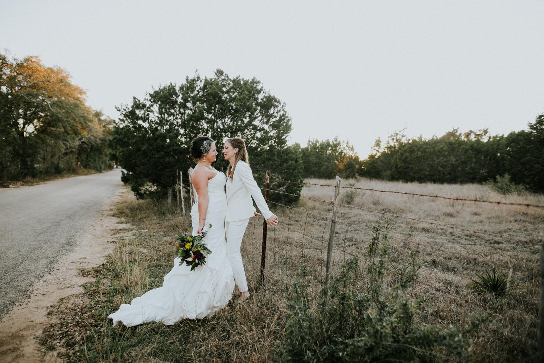 same sex wedding couple at prospect house