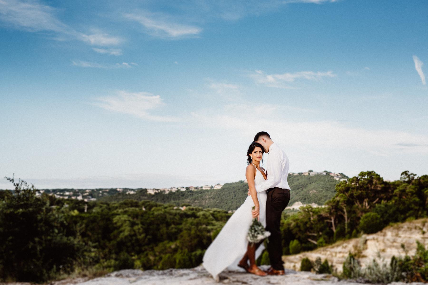 austin skyline wedding vows