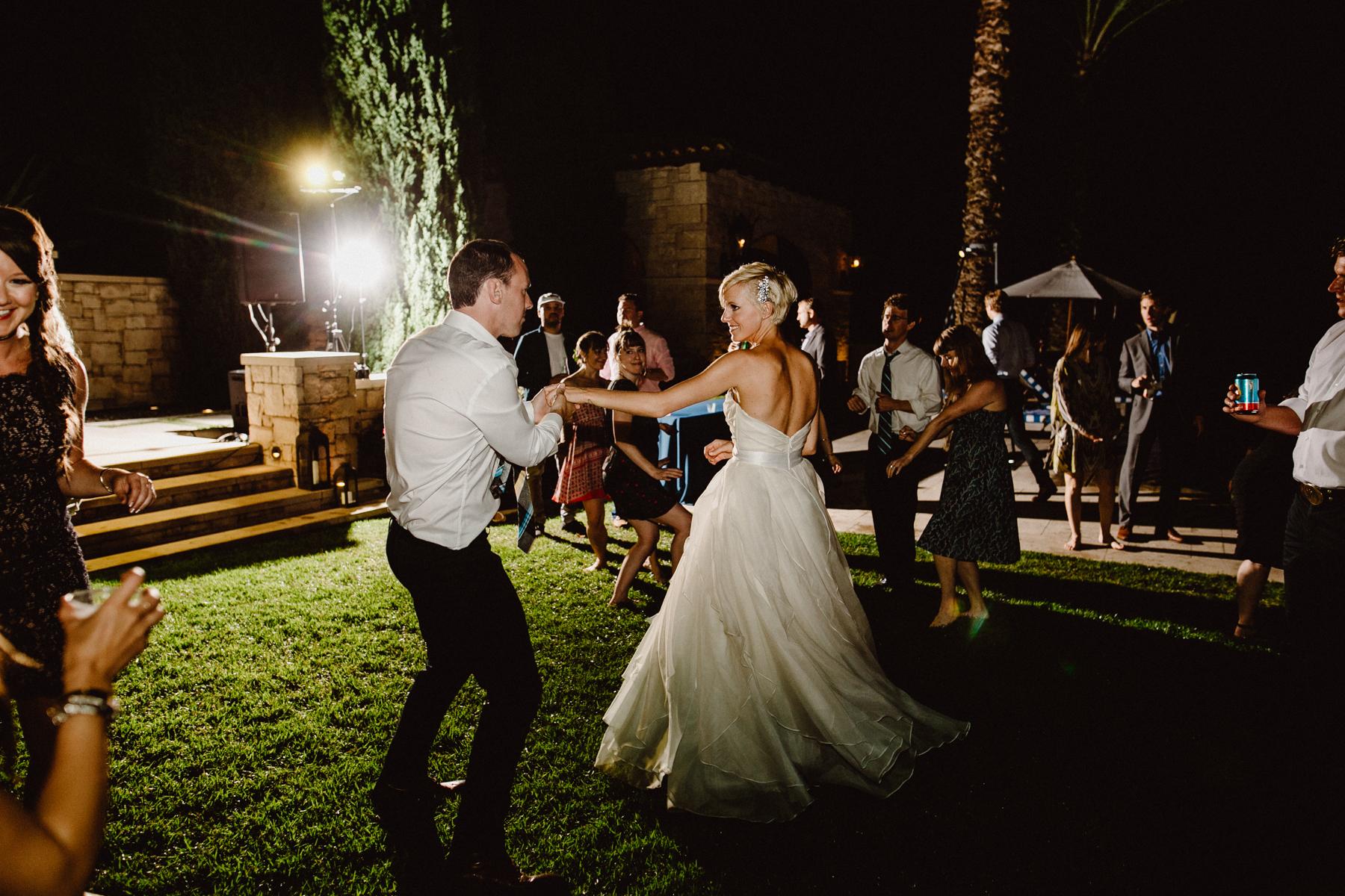 austin backyard wedding dancing
