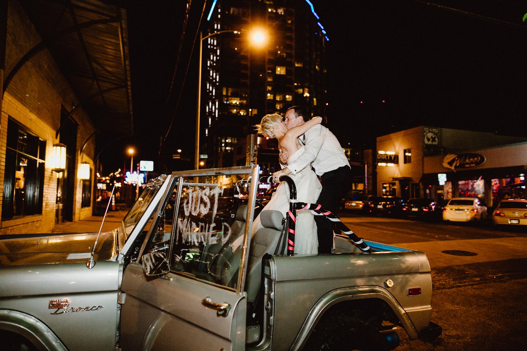 downtown austin wedding exit
