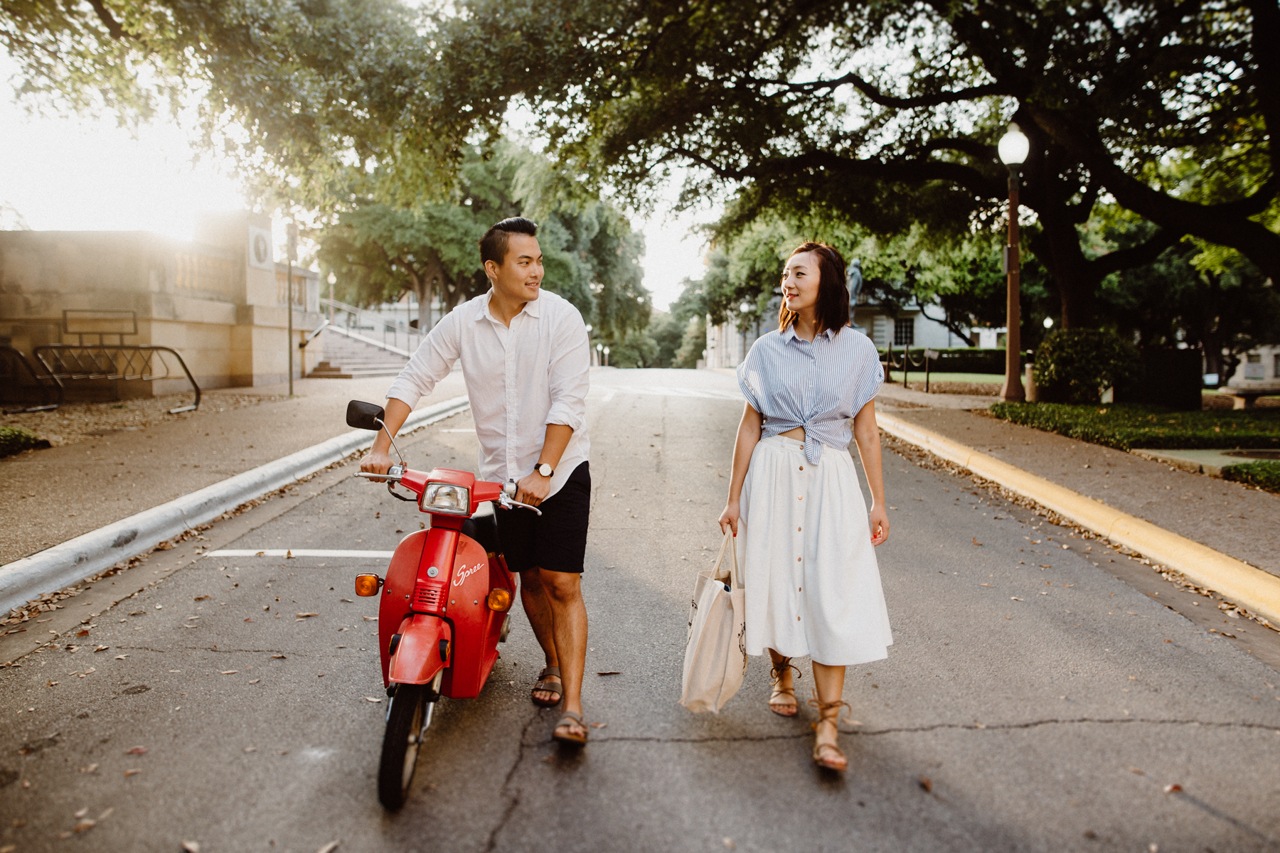 engagement session on ut campus