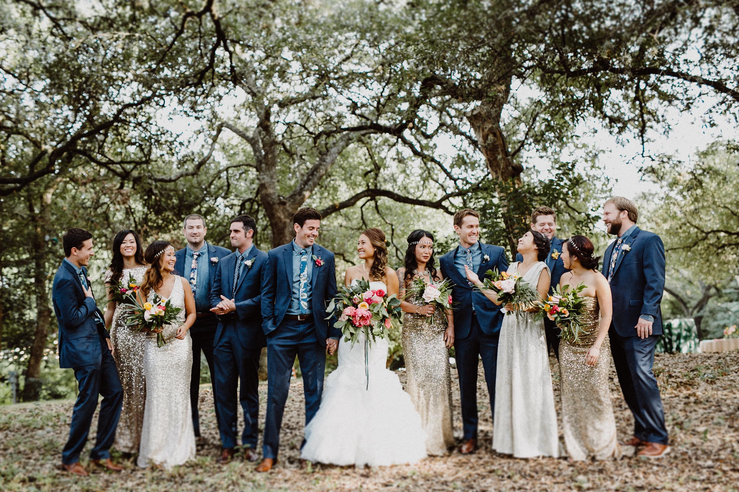 wedding party photos at mercury hall