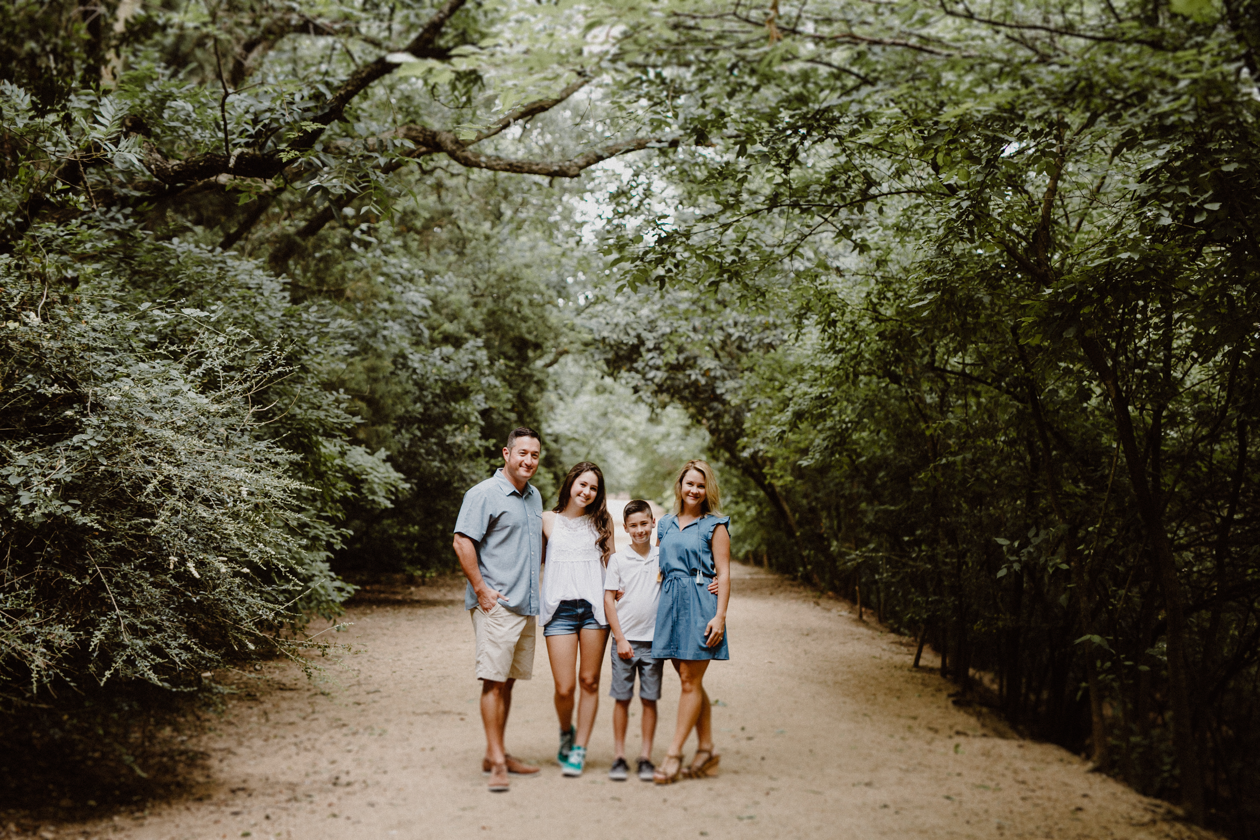 Family photos at Red Bud Isle