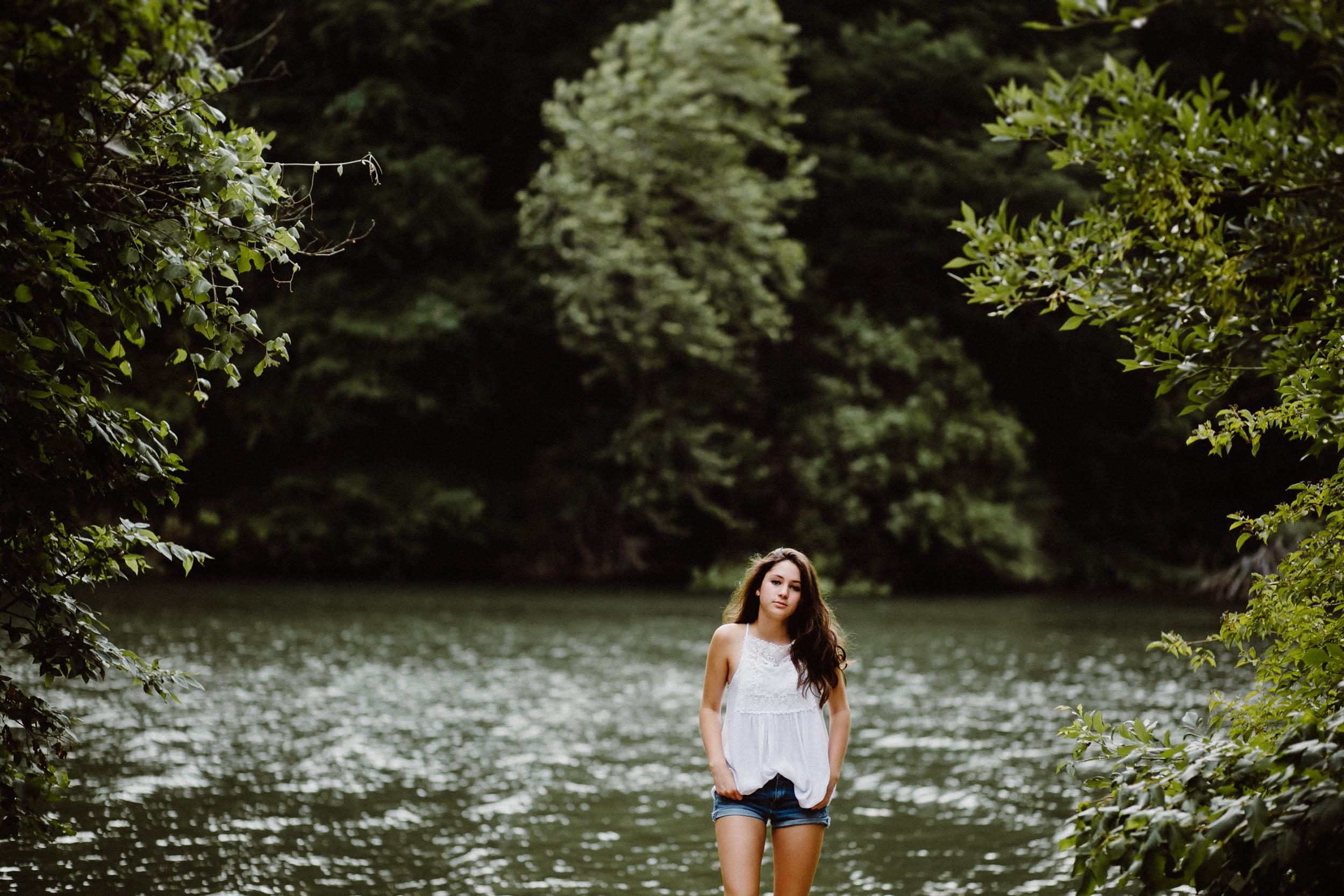 Girl by town lake austin
