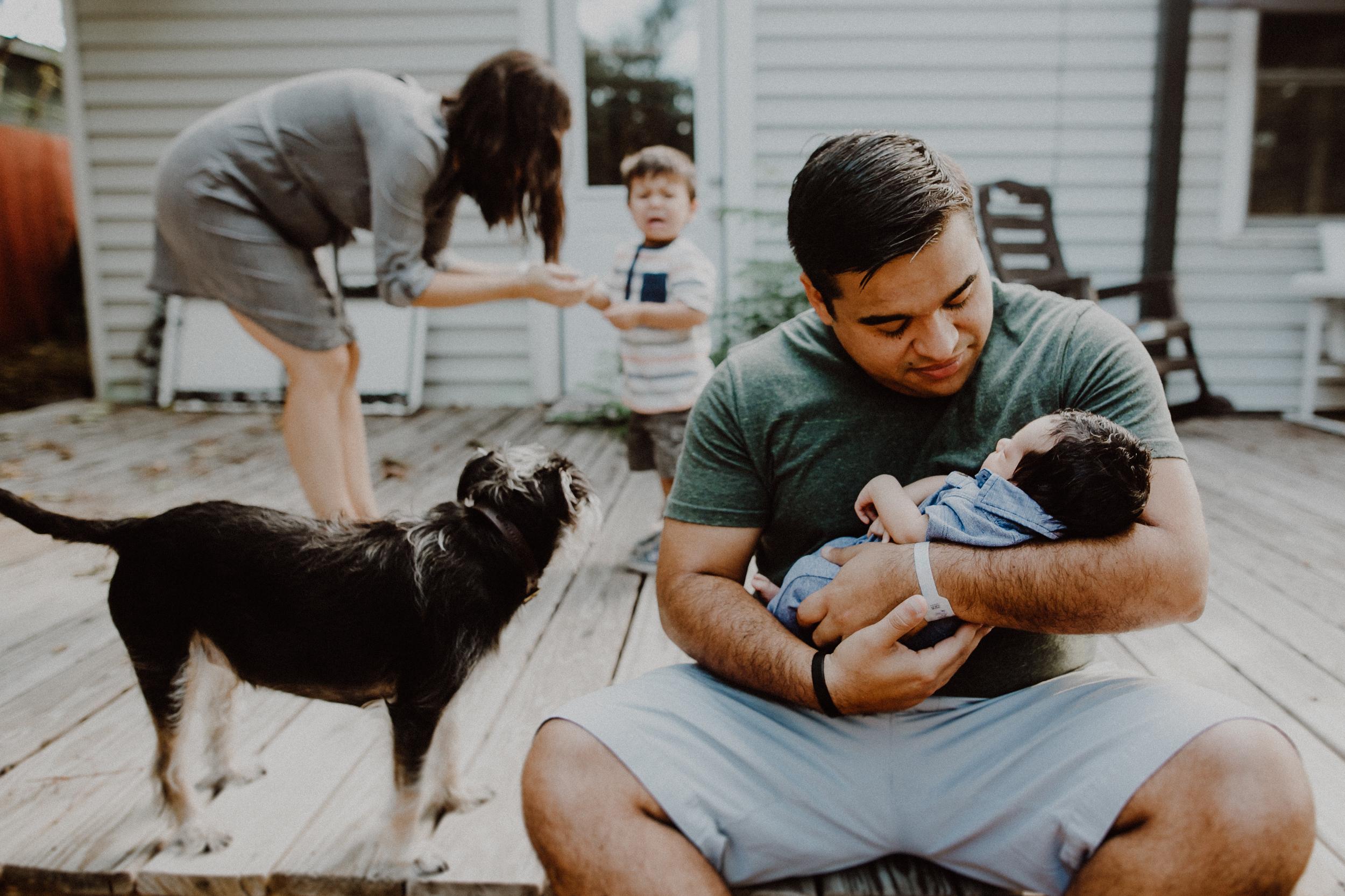 lifestyle newborn session austin
