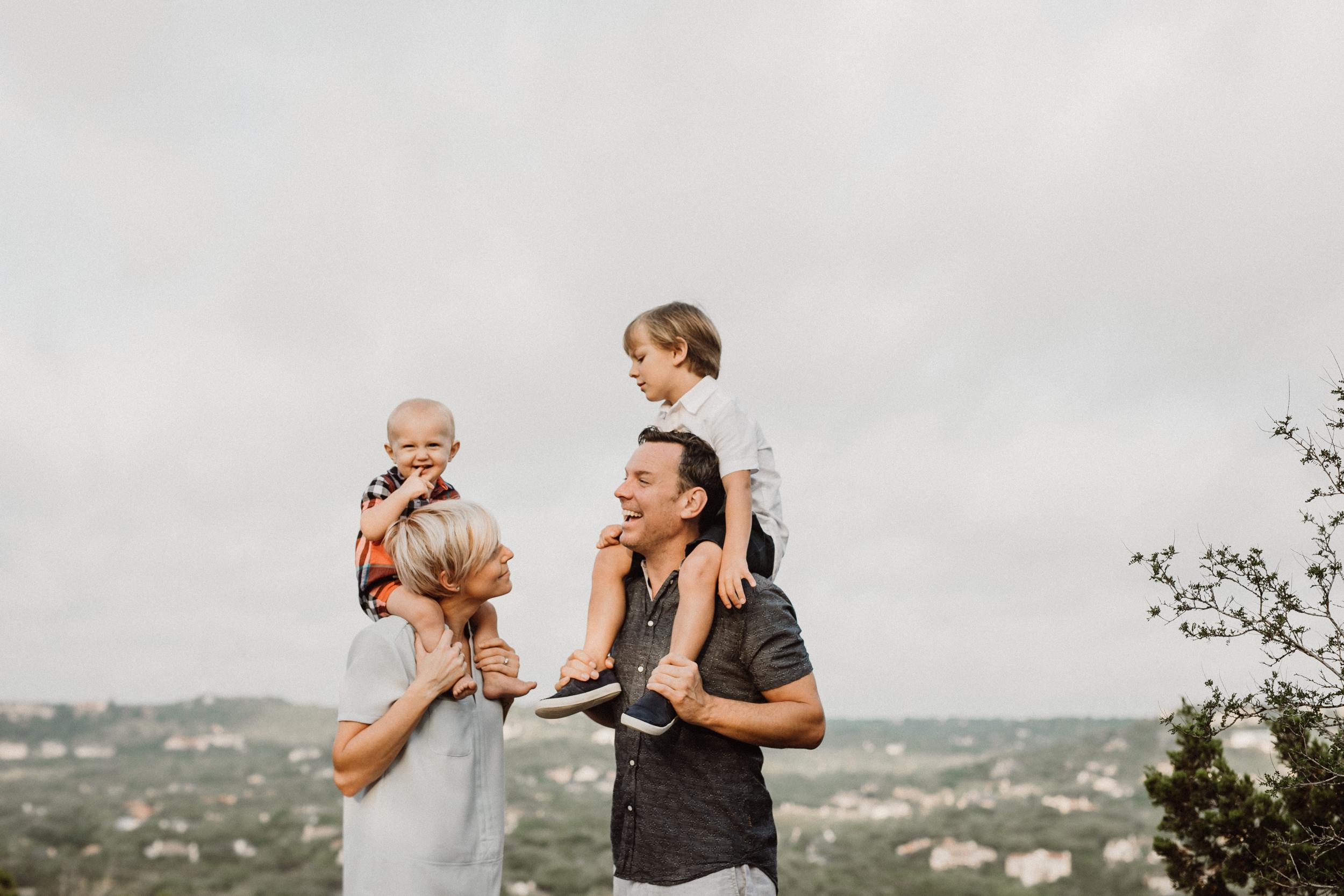 Austin skyline family photos
