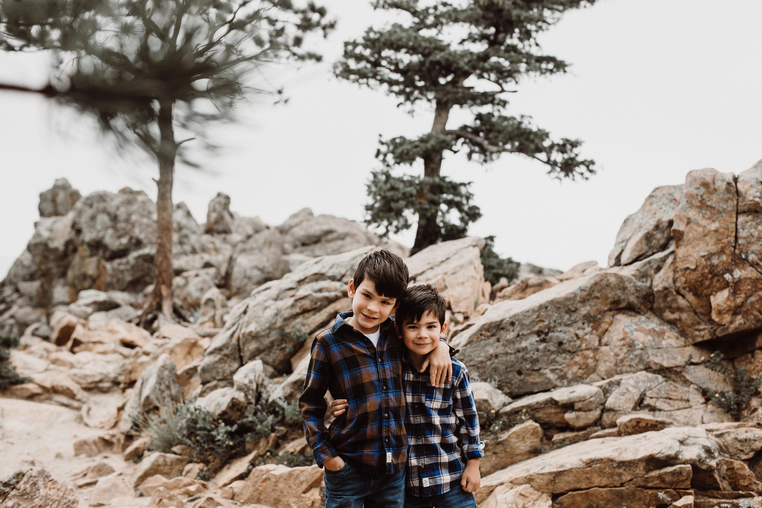 boys on flagstaff mountain in boulder
